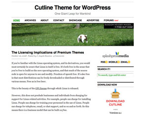 Cutline 3c wordpress travel theme