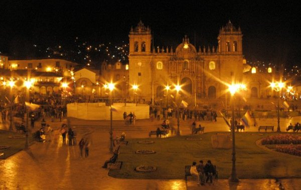Plaza at night, Cuzco