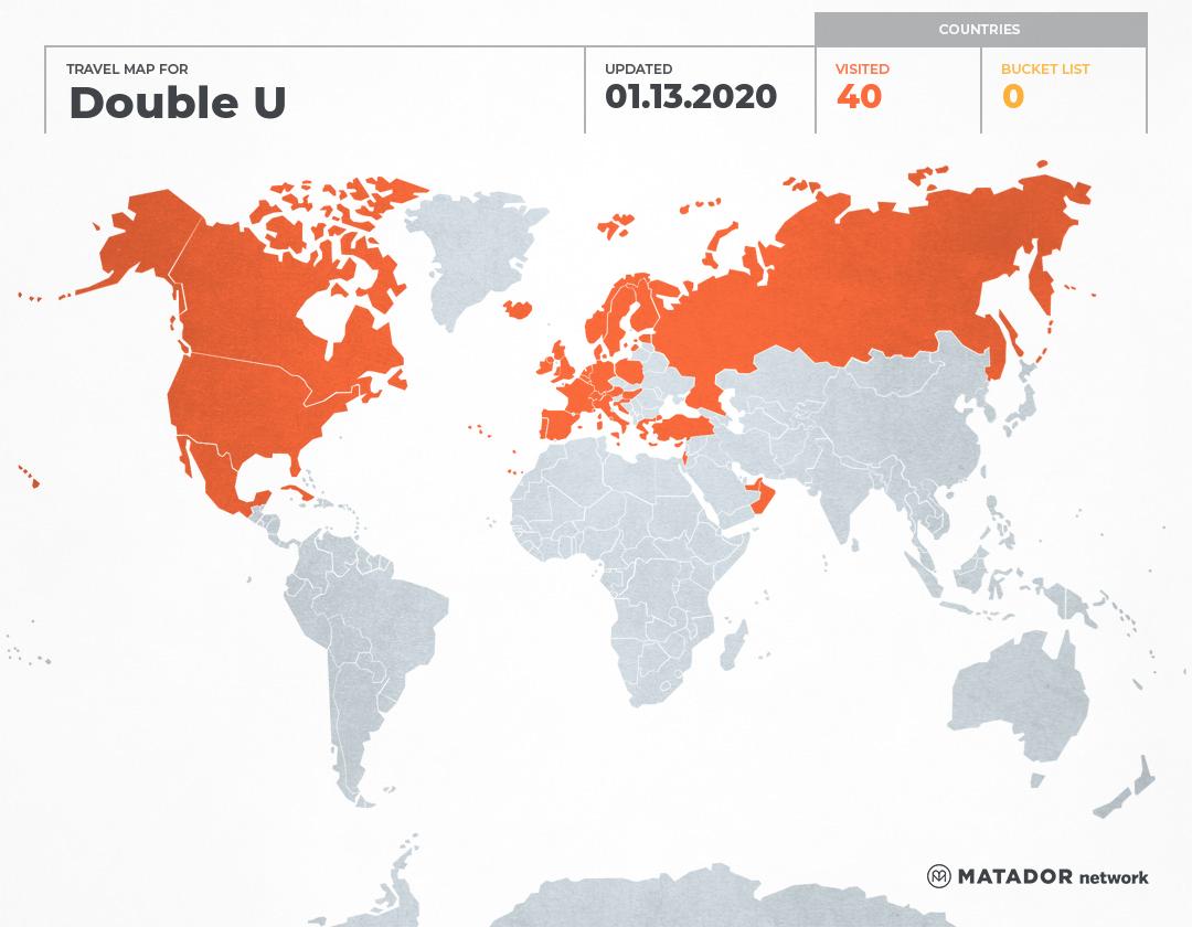 Double U's Travel Map