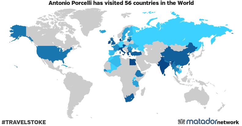 Antonio Porcelli's Travel Map