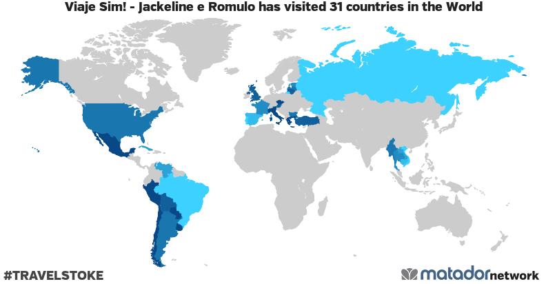 Viaje Sim! – Jackeline e Romulo's Travel Map