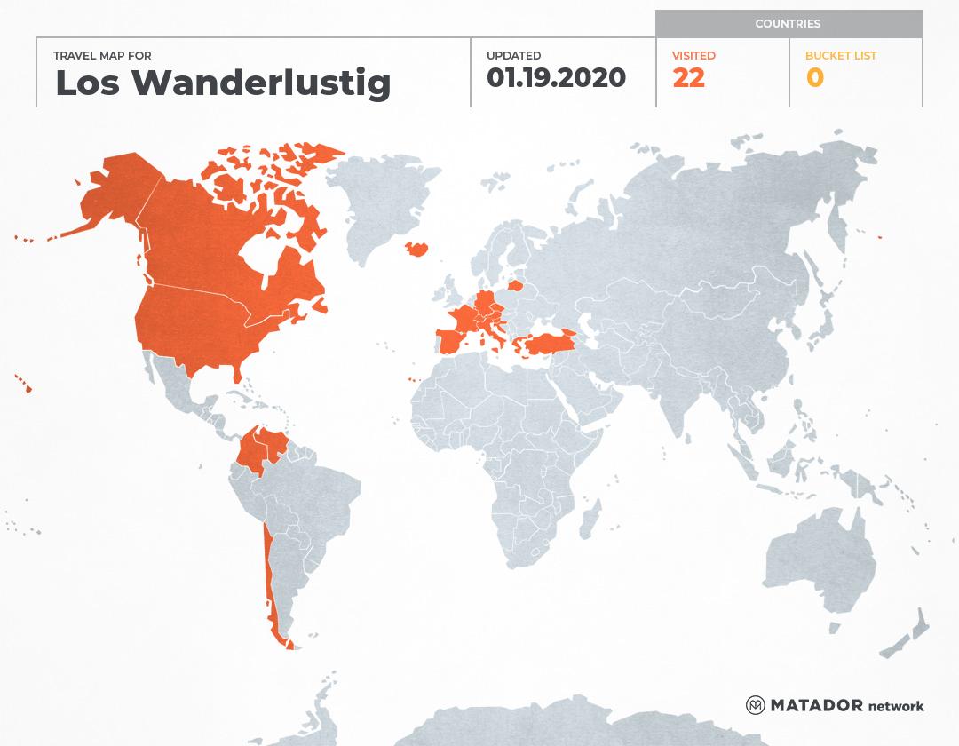 Los Wanderlustigen's Travel Map