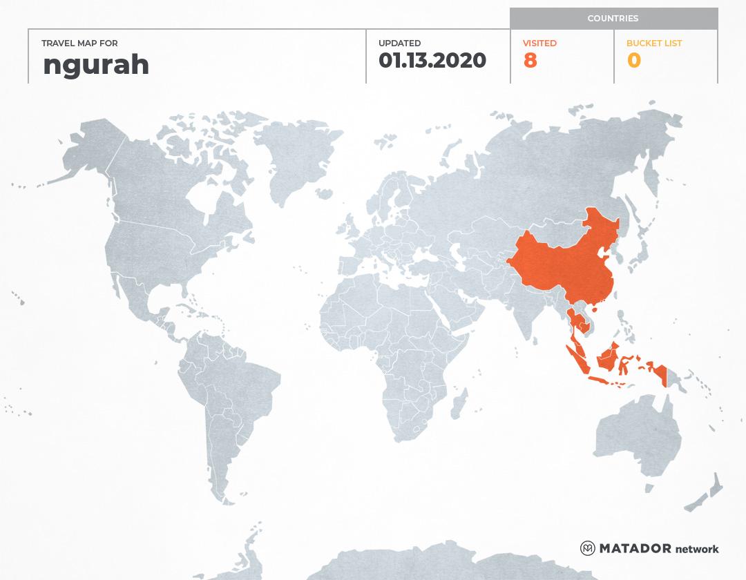 ngurah's Travel Map