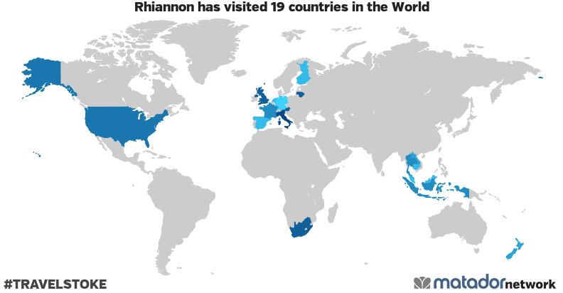 Rhiannon's Travel Map