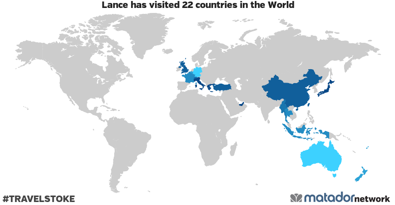 Lance's Travel Map