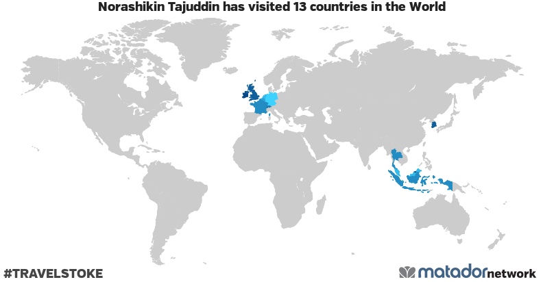Norashikin Tajuddin's Travel Map