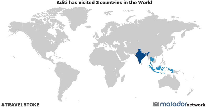 Aditi's Travel Map
