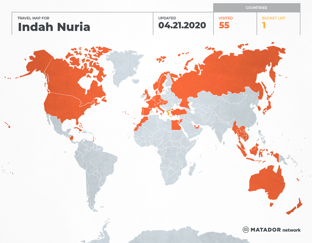 Indah Nuria's Travel Map