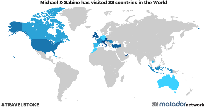Michael & Sabine's Travel Map