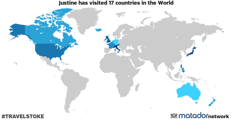 Justine's Travel Map