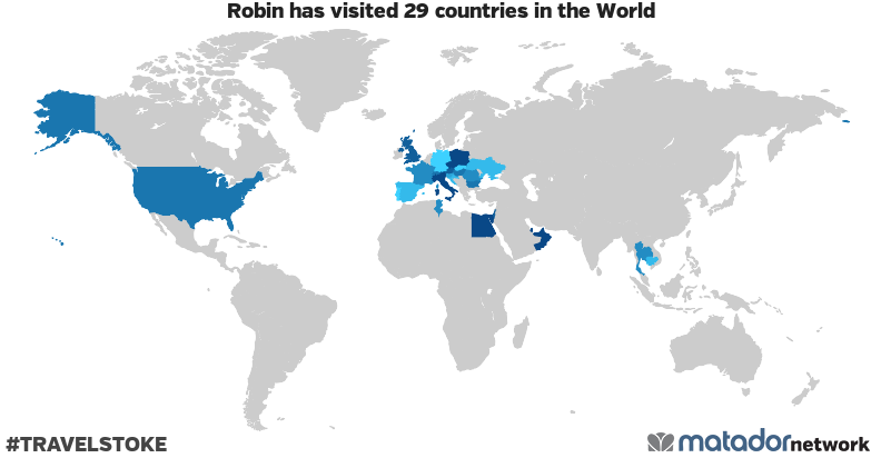 Robin's Travel Map