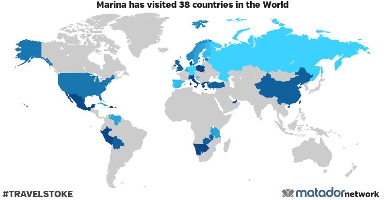 Marina's Travel Map