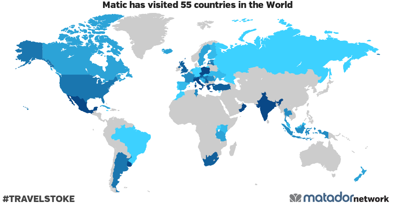 Matic's Travel Map