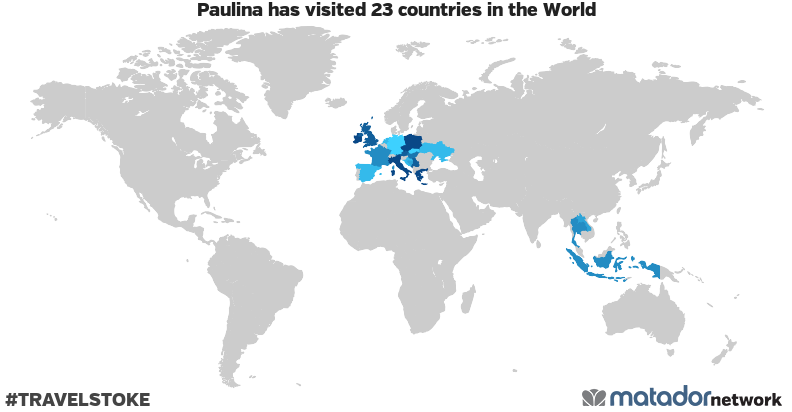 Paulina's Travel Map