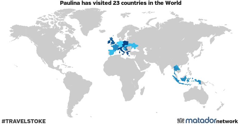 Paulina's Travel Map