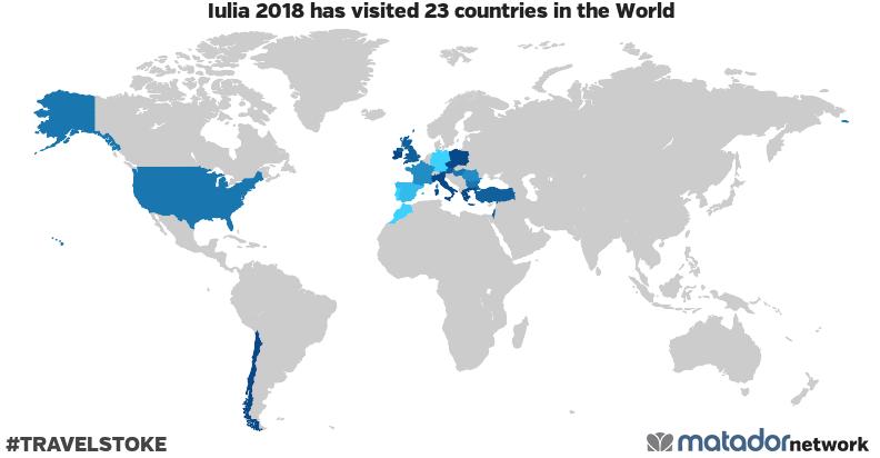 Iulia 2018's Travel Map