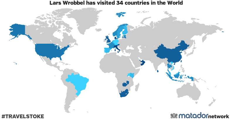 Lars Wrobbel's Travel Map
