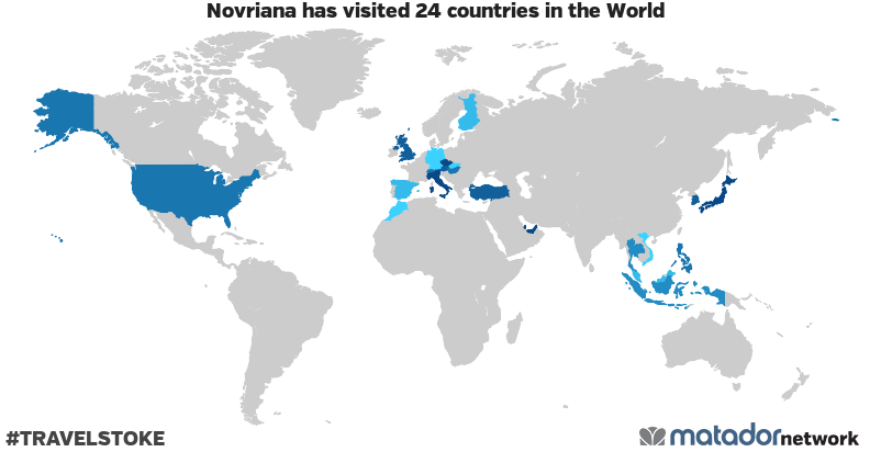 Novriana's Travel Map