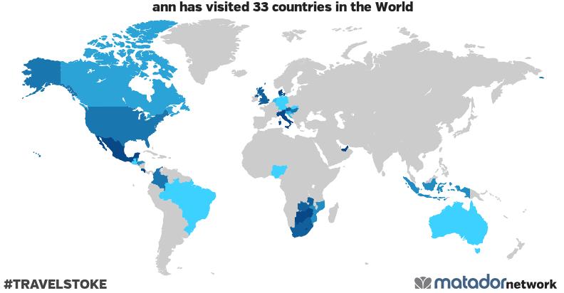 ann's Travel Map