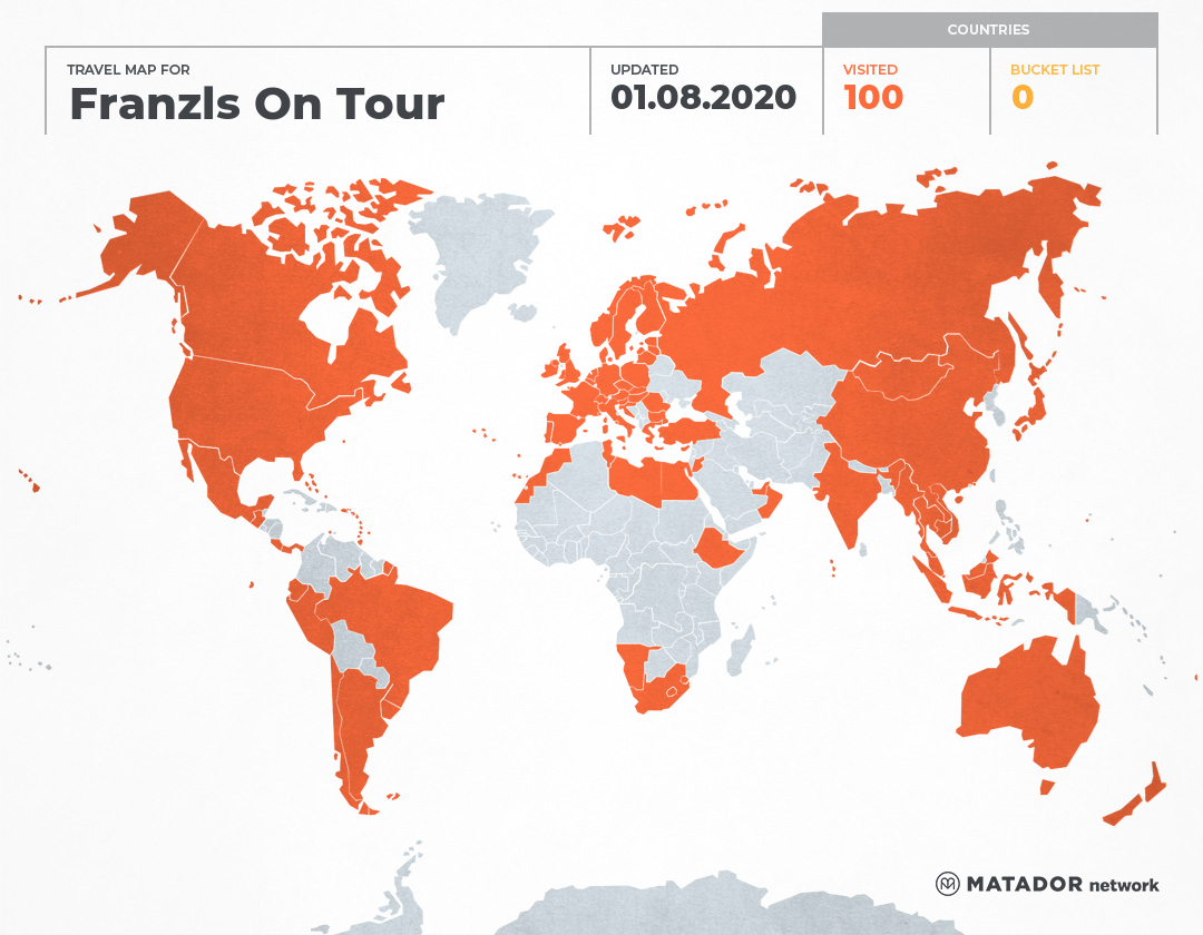 Franzls On Tour's Travel Map