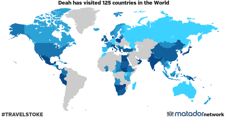 Deah's Travel Map