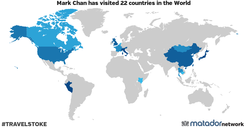 Mark Chan's Travel Map