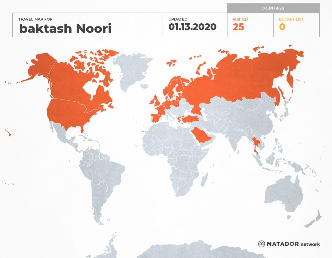 baktash Noori's Travel Map