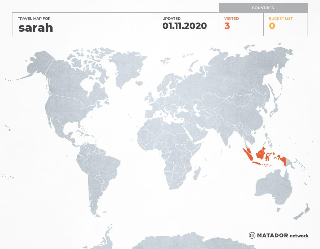 sarah's Travel Map