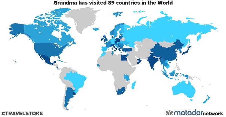 Grandma's Travel Map