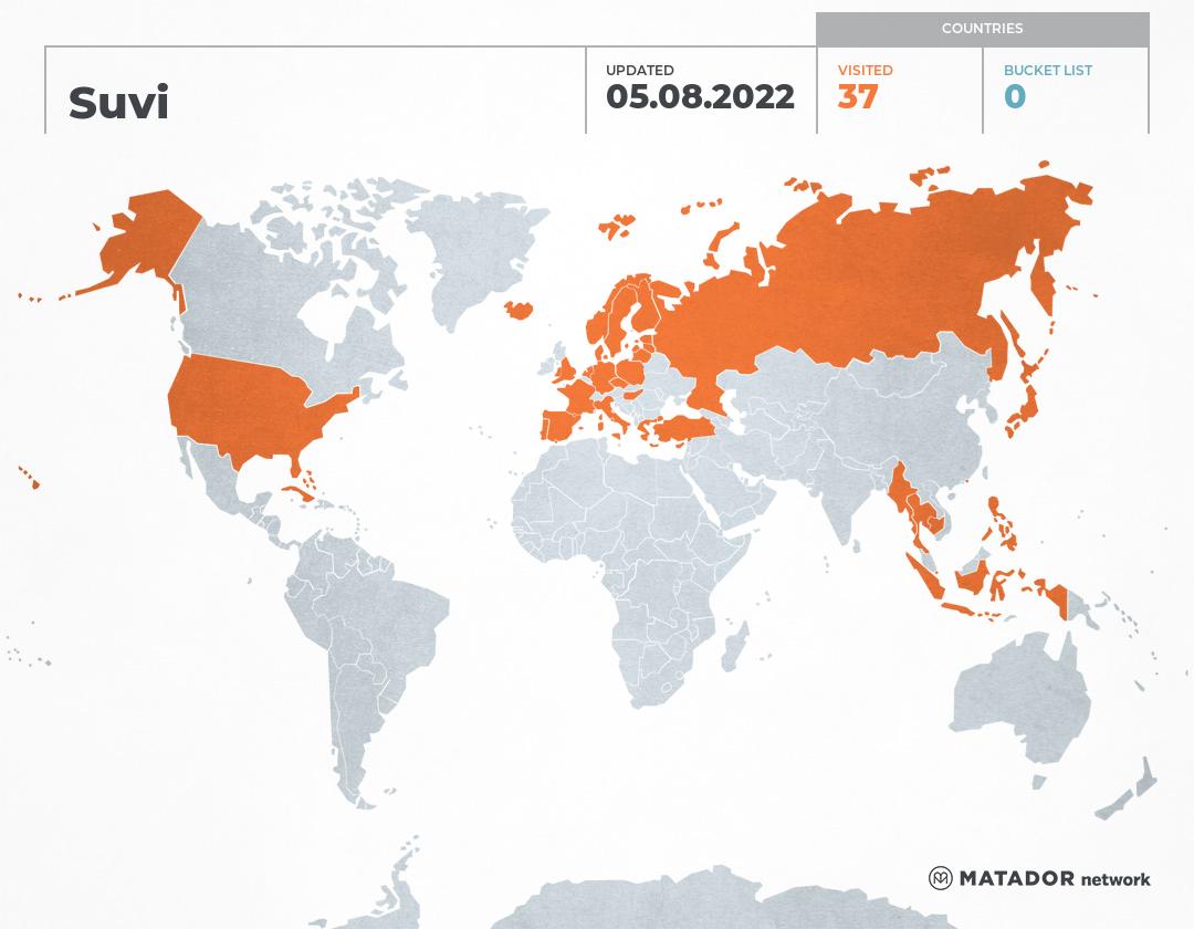 Suvi's Travel Map