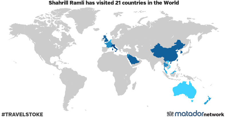 Shahrill Ramli's Travel Map