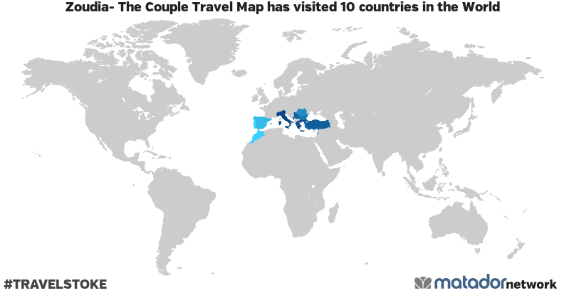 Zoudia- The Couple Travel Map's Travel Map