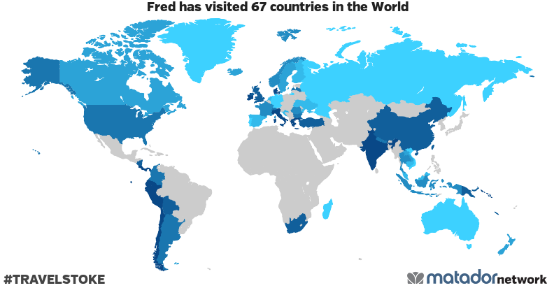 Fred's Travel Map