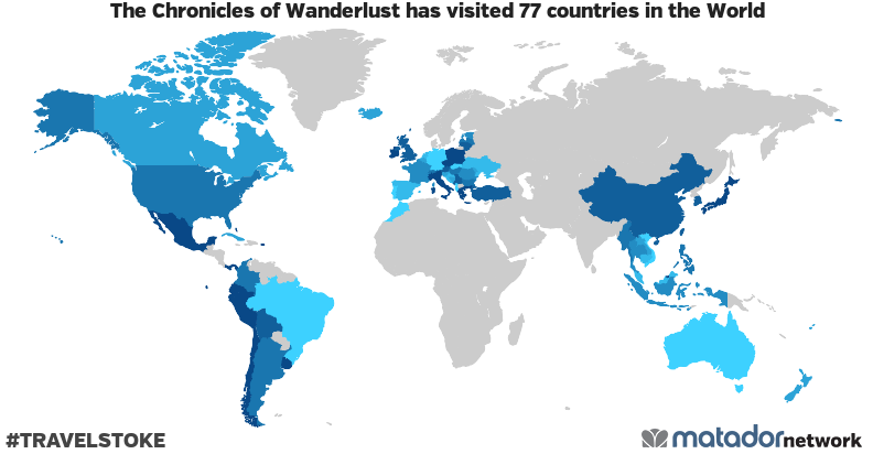 The Chronicles of Wanderlust's Travel Map
