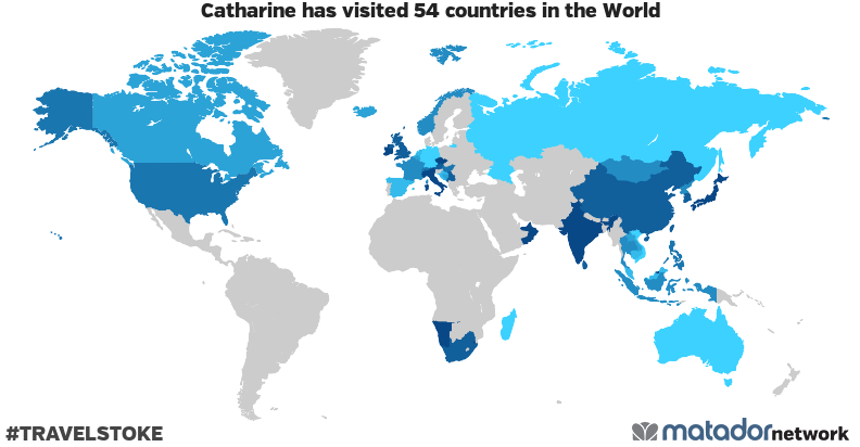 Catharine's Travel Map