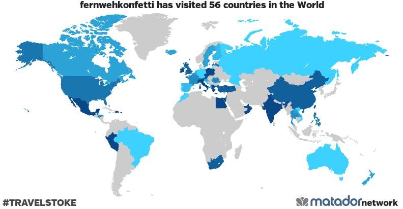 fernwehkonfetti's Travel Map