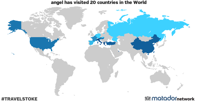 angel's Travel Map