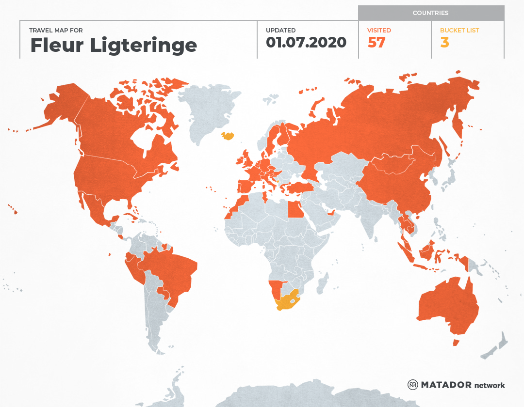 Fleur Ligteringe's Travel Map