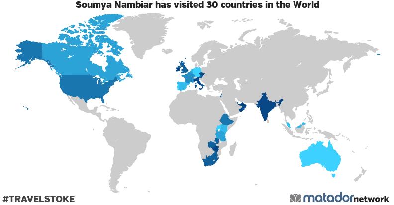 Soumya Nambiar's Travel Map