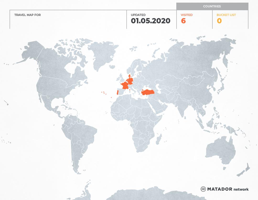 claudia's Travel Map