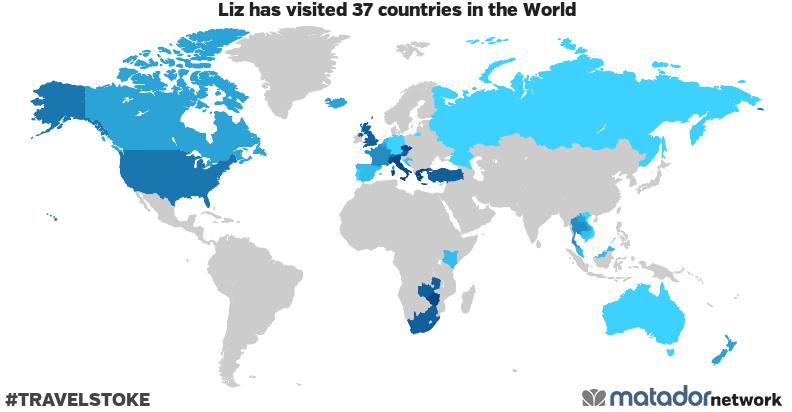 Liz's Travel Map
