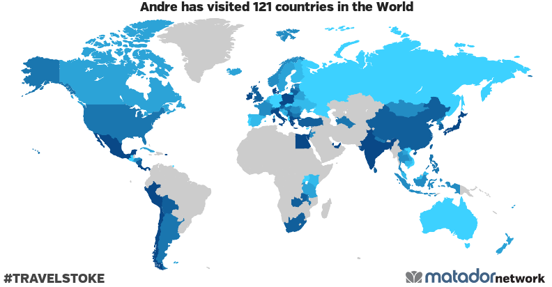 Andre's Travel Map
