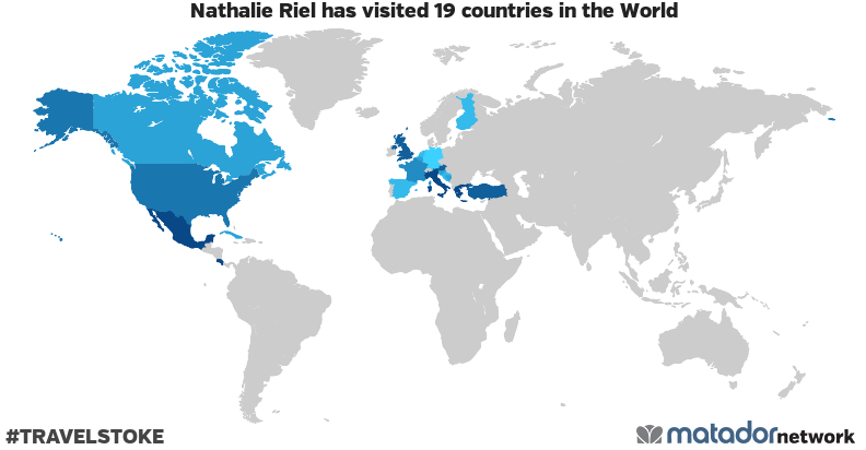 Nathalie Riel's Travel Map