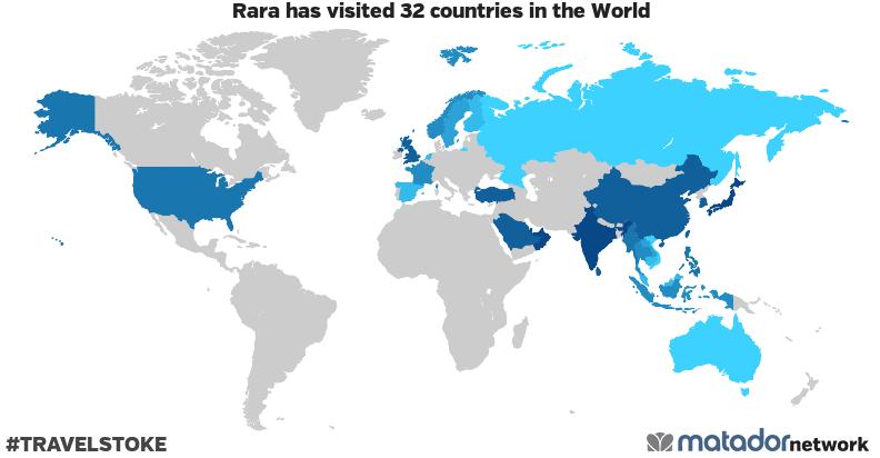 Rara's Travel Map