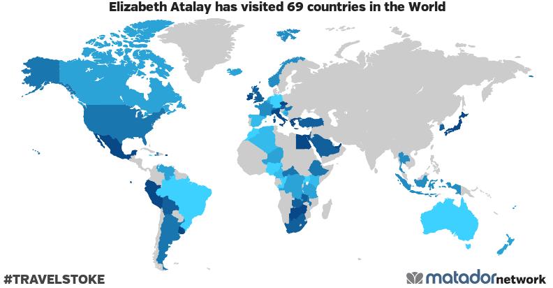 Elizabeth Atalay's Travel Map
