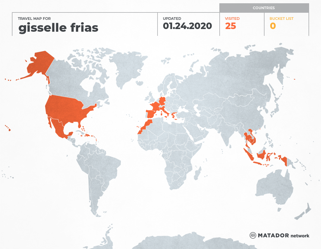 gisselle frias's Travel Map