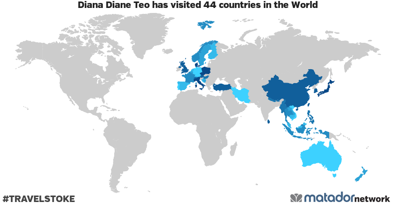 Diana Diane Teo's Travel Map