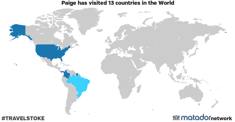Paige's Travel Map