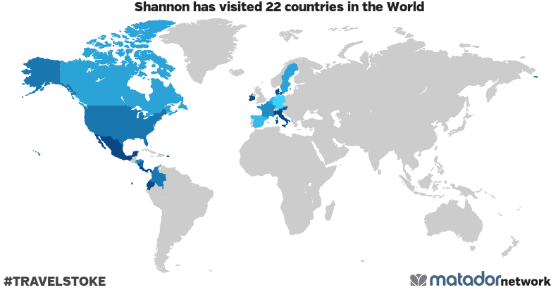 Shannon's Travel Map