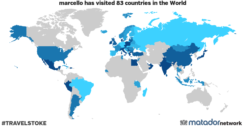 marcello's Travel Map